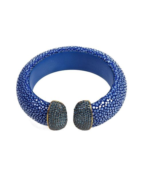 Latelita London | Stingray Cuff Royal Blue Sapphire | Lyst