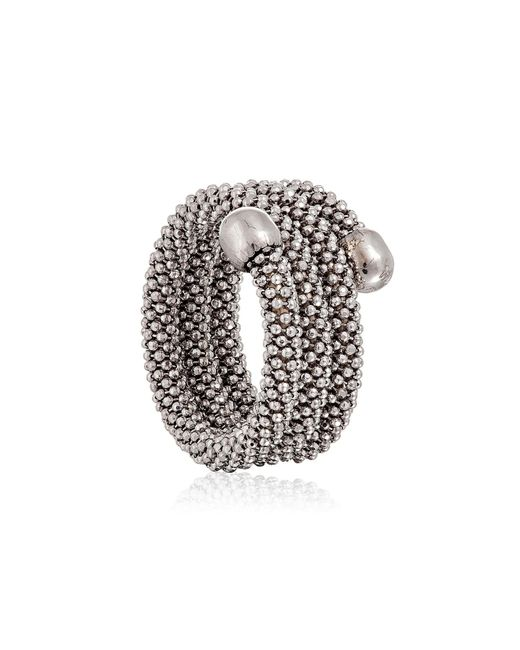 Durrah Jewelry - Metallic Silver Spring Ring - Lyst