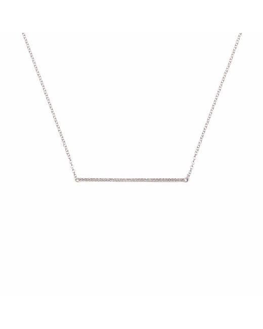 Ri Noor - Metallic Thin Diamond Bar Necklace - Lyst