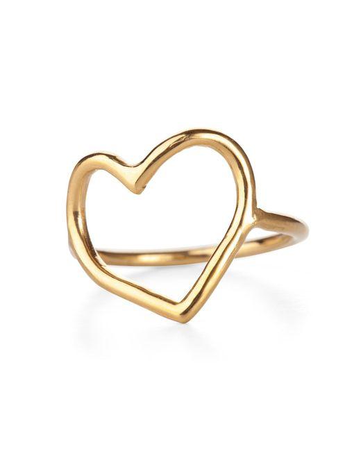 Chupi - Metallic My Heart Is Open Ring Gold - Lyst