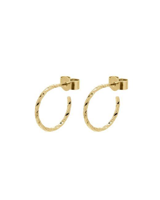 Myia Bonner - Metallic Gold Mini Diamond Hoop Earrings - Lyst