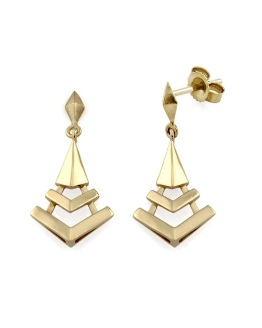 Monarc Jewellery - Metallic The Montezuma Prism Drops 9ct Gold - Lyst
