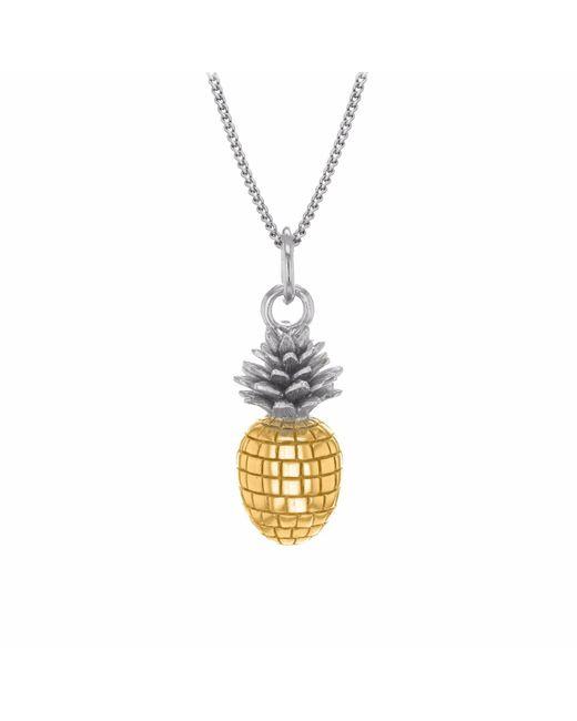 True Rocks - Metallic Small Pineapple Two Tone Necklace - Lyst