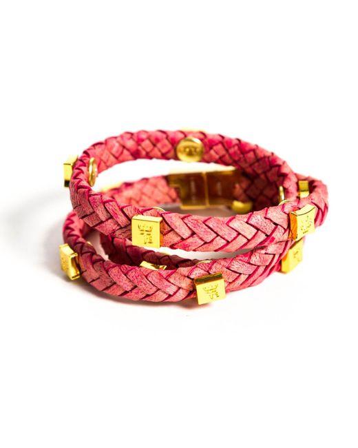 Tissuville - Multicolor Brio Bracelet Raspberry Gold - Lyst