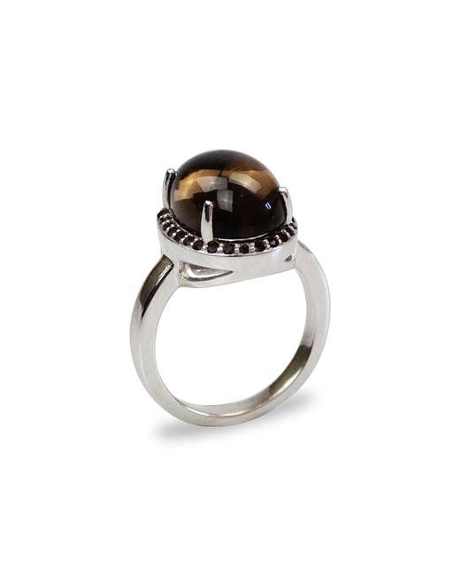 Bellus Domina | Brown Smoky Quartz Silver Ring | Lyst