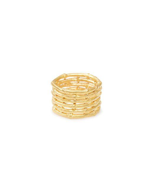 Yucama - Metallic Bamboo Stacked Ring Rose Gold - Lyst