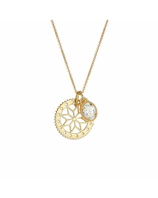 One and One Studio   Metallic Gold Flower Jewel Combo   Lyst