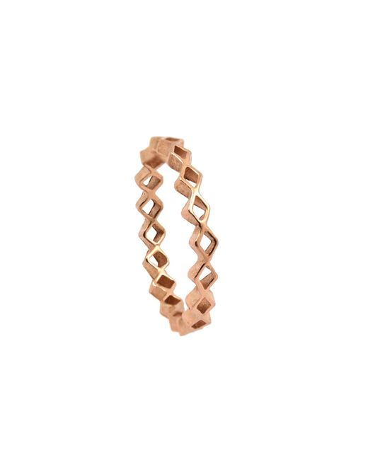 Annabelle Lucilla Jewellery - Metallic Tiny Diamond Stacking Ring Rose Gold - Lyst