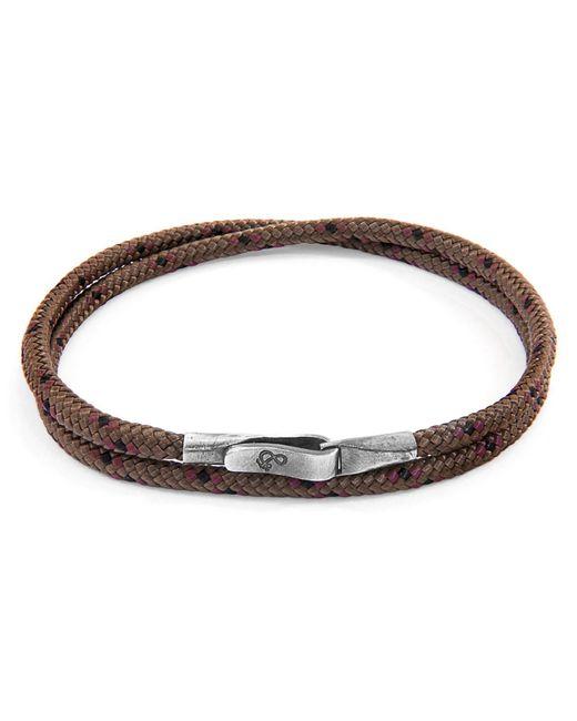 Anchor & Crew - Metallic Brown Liverpool Silver & Rope Bracelet for Men - Lyst