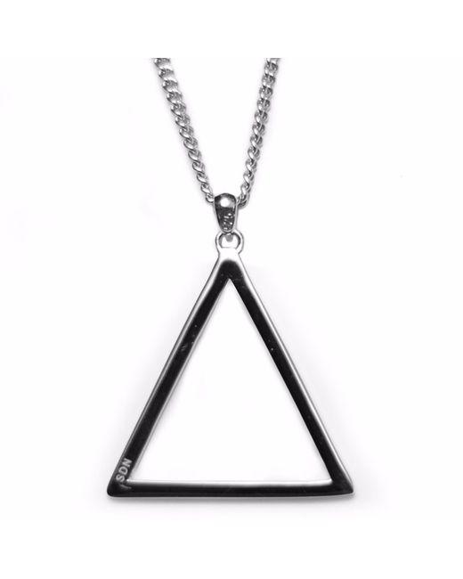 Serge Denimes | Metallic Silver Triangle Pendant Necklace | Lyst