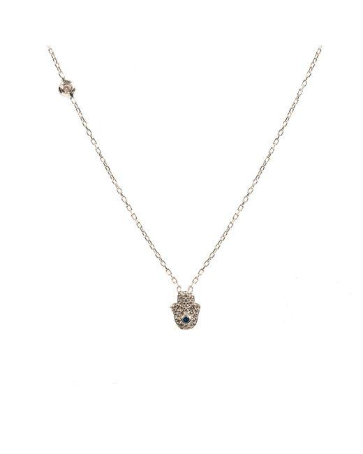 Latelita London - Metallic Hamsa Necklace Silver - Lyst