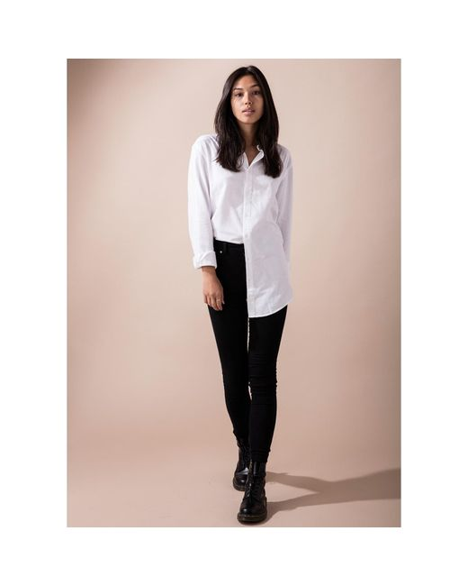 18f1b79df471 Circle Park Women s Tall Button Up White Shirt in White - Lyst
