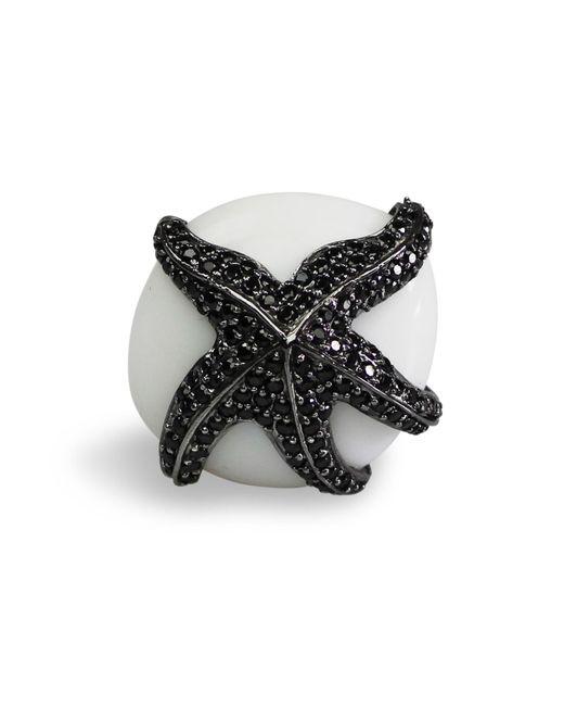 Bellus Domina | White Adjustable Starfish Cocktail Ring | Lyst