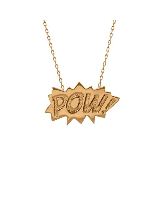 Edge Only - Metallic Pow Pendant Large Long In Gold - Lyst