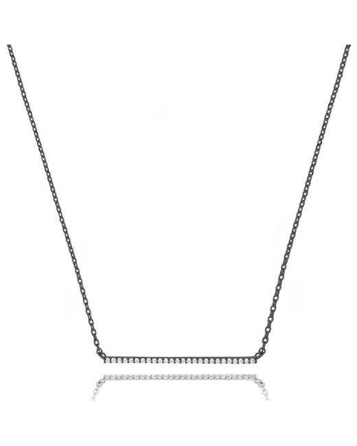 Astrid & Miyu | Multicolor Walk The Line Big Bar Necklace In Gunmetal | Lyst