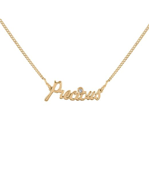 Lee Renee - Metallic Precious Necklace Diamond & Gold Vermeil - Lyst