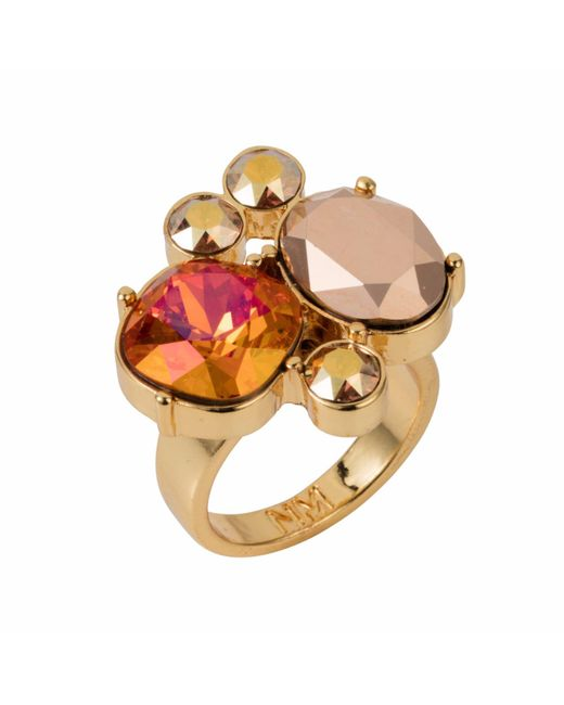 Nadia Minkoff - Metallic The Kate Cocktail Ring Gold Magma - Lyst