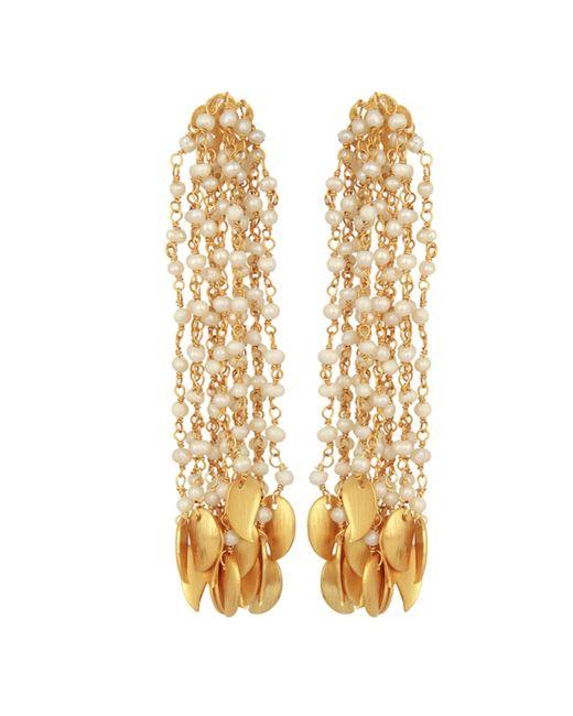 c9beb5ae5 Carousel Jewels - Metallic Pearl & Gold Drops Waterfall Earrings - Lyst ...