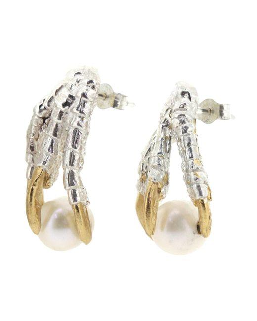 Tessa Metcalfe - Metallic Pearl Of London Earrings Silver - Lyst