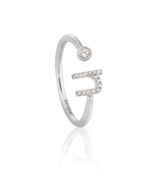 Astrid & Miyu | Metallic Silver Initial U Ring | Lyst