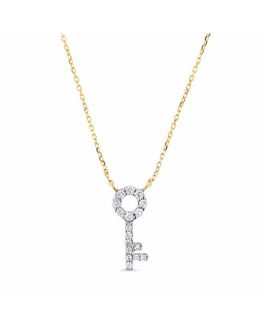 Cosanuova - Metallic Key Necklace 14k Yellow Gold - Lyst