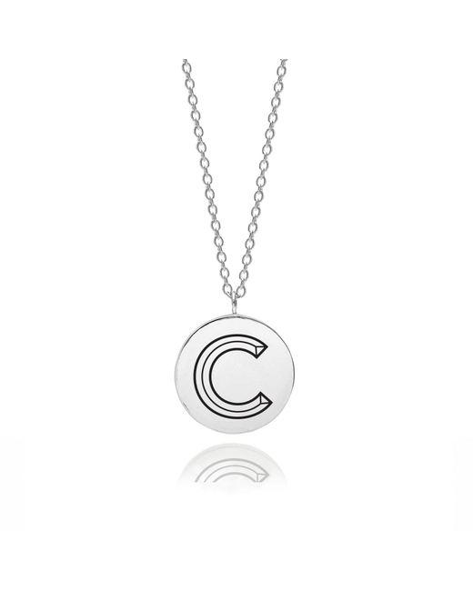 Myia Bonner - Metallic Sterling Silver Facett Initial C Pendant - Lyst