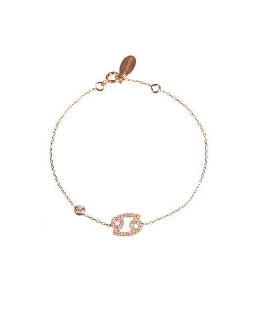 Latelita London - Metallic Zodiac Bracelet Rosegold Cancer - Lyst