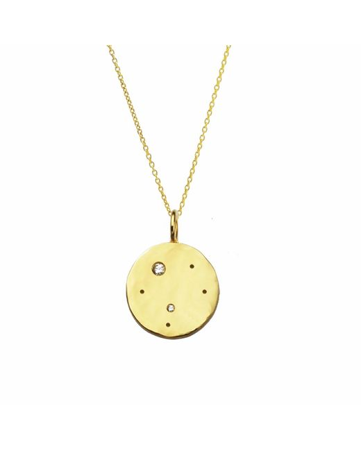 Yvonne Henderson Jewellery - Metallic Libra Constellation Necklace With White Sapphires Gold - Lyst