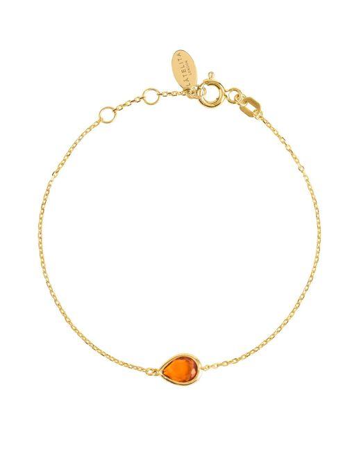 Latelita London - Metallic Pisa Mini Teardrop Bracelet Gold Citrine - Lyst