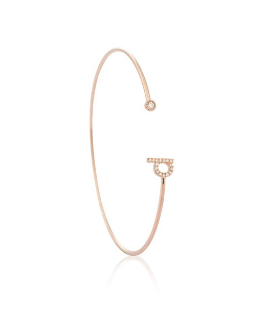 Astrid & Miyu | Multicolor Rose Gold Initial 'd' Bangle | Lyst