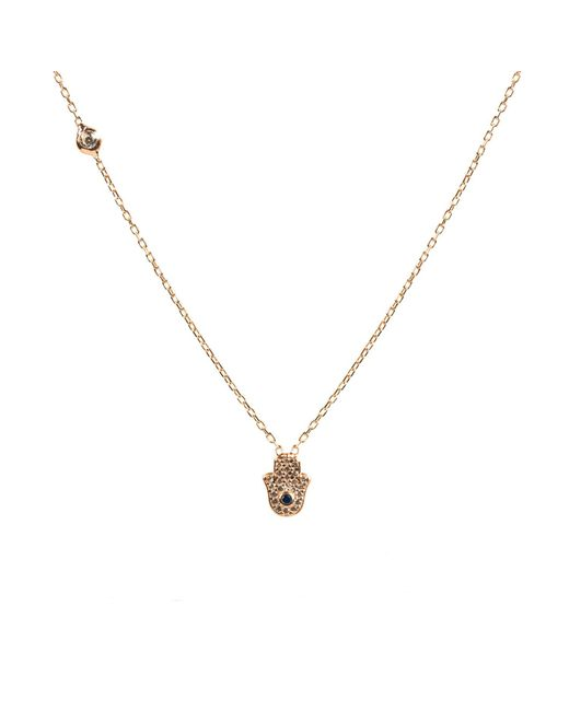 Latelita London - Multicolor Hamsa Necklace Rosegold - Lyst