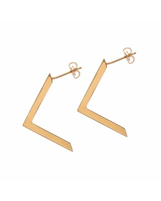 Sally Lane Jewellery - Metallic Boomerang Gold Earrings - Lyst