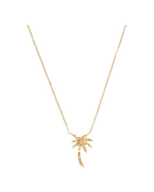 Ottoman Hands | Metallic Small Gold Palm Tree Necklace | Lyst