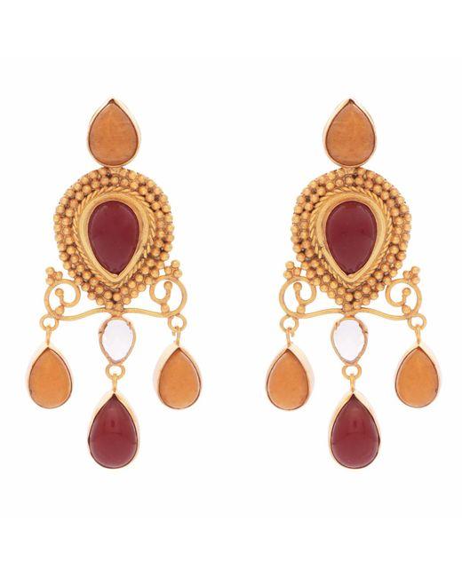 Carousel Jewels | Red Onyx & Carnelian Earrings | Lyst