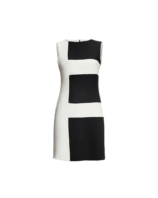 Rumour London - White Marie Striped Silk Dress Black - Lyst
