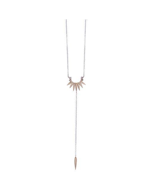 Joana Salazar   Metallic Spike Necklace   Lyst