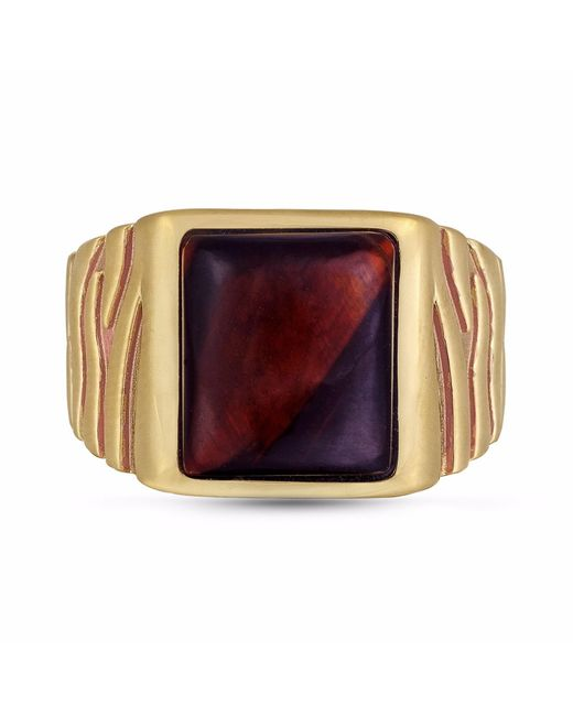 LMJ - Multicolor Chatoyant Red Tiger Eye Stone Ring for Men - Lyst