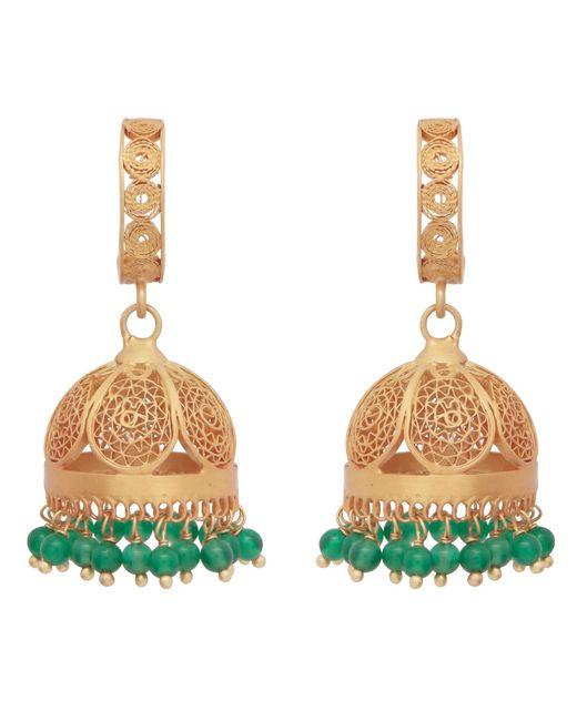 Carousel Jewels - Gold & Green Onyx Chandelier Statement Earrings - Lyst