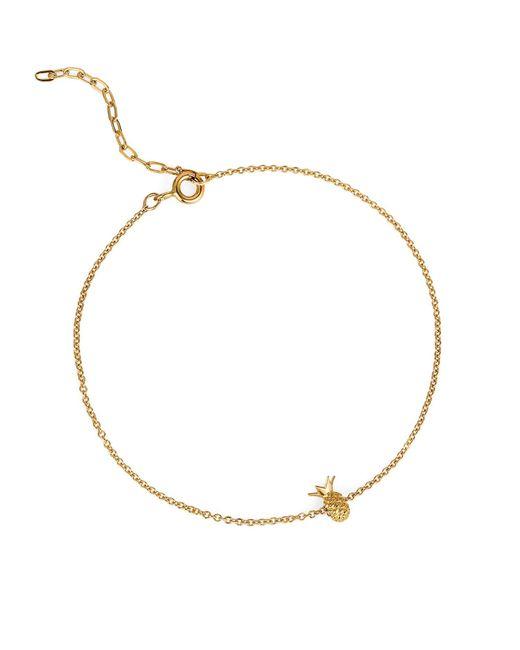 Lee Renee - Metallic Pineapple Bracelet Gold Vermeil - Lyst
