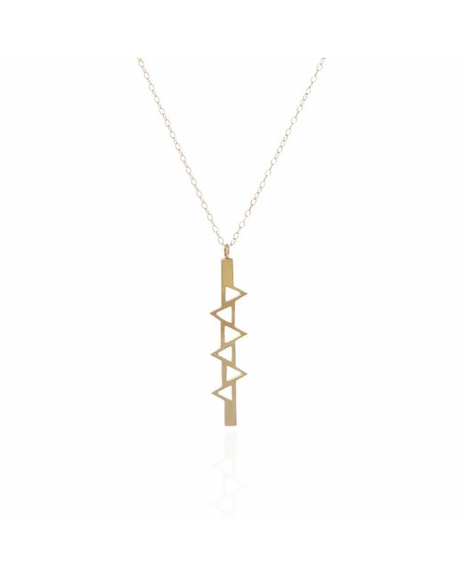 Sally Lane Jewellery - Metallic Ladder Of Life Long Gold Pendant - Lyst