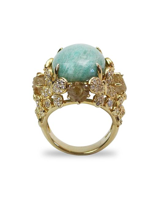 Bellus Domina - Blue Amare Amazonite Ring - Lyst