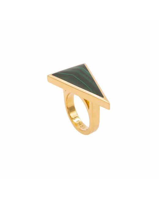 KIMSU - Metallic 18k Vermeil Gold Triangolo Ring - Lyst