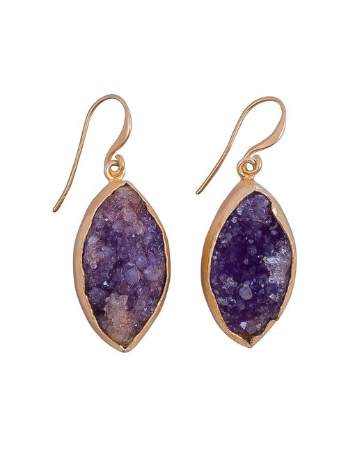 Magpie Rose - Purple Raw Druzy Earrings - Lyst
