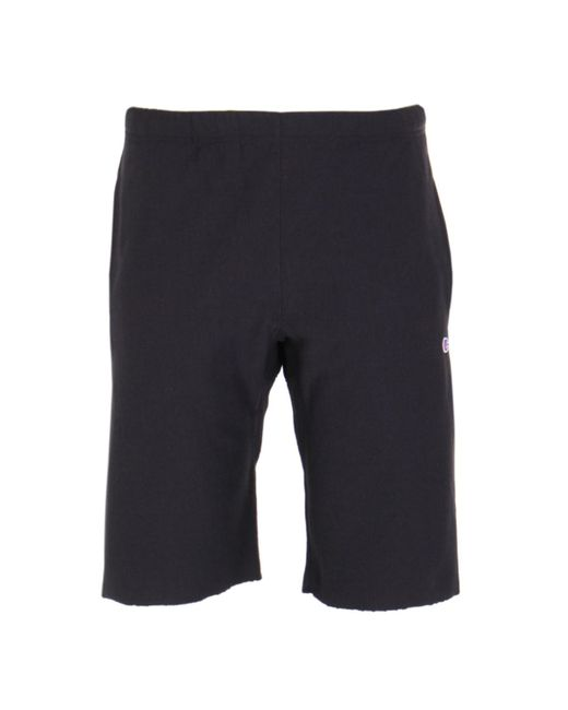 Champion - Black Bermuda Sweat Short for Men - Lyst