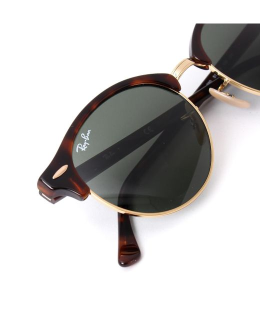 b42c6a9c7be22 ... where to buy ray ban clubmaster classic tortoise brown sunglasses for  men lyst e0f89 3ad84