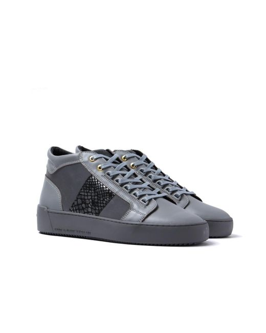 Android Homme - Gray Propulsion Mid 3m Mirror Python Grey Suede Trainers for Men - Lyst