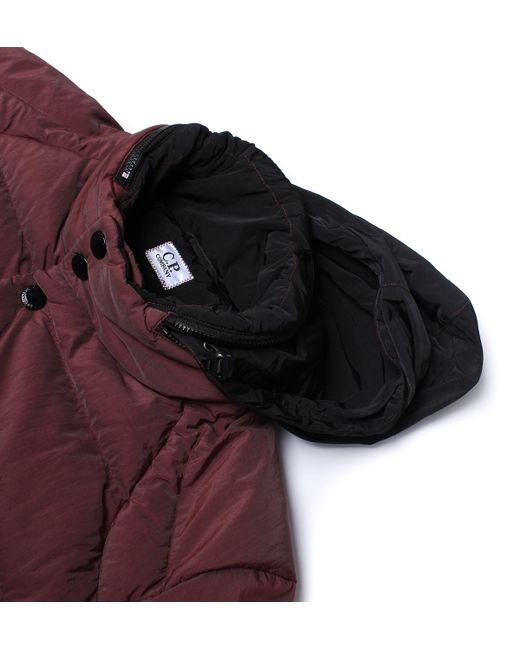 C p company Burgundy Down Padded Quilted Jacket for Men | Lyst : down quilted coats - Adamdwight.com