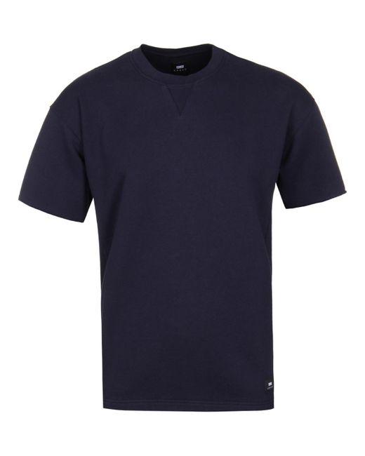 Edwin - Blue Indigo Wash Short Sleeve Crew Sweat for Men - Lyst