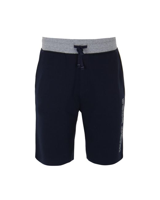 f8c471130 BOSS by Hugo Boss - Blue Boss Contemp Navy Sweatshorts for Men - Lyst ...