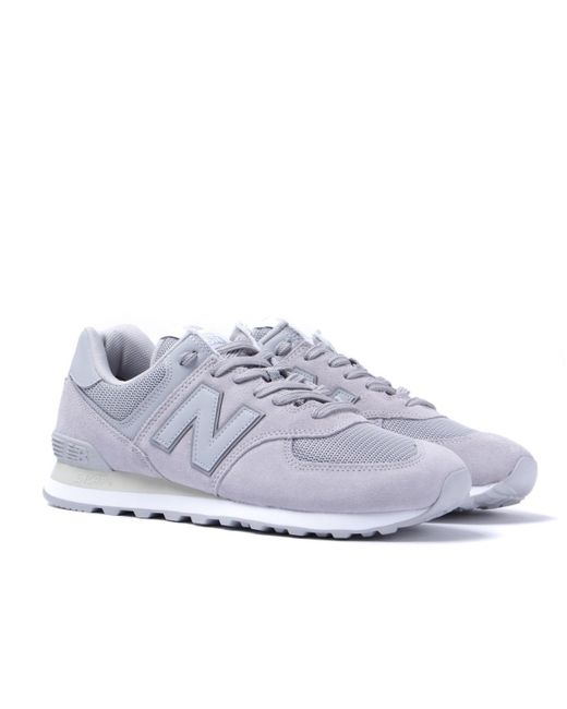 89f7ce6695a8d New Balance - Gray 574 Light Grey Suede Trainers for Men - Lyst ...